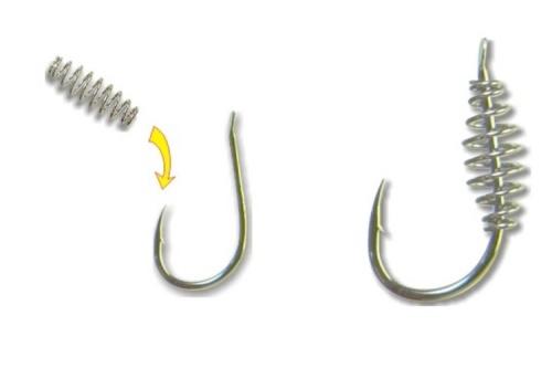 зачем на рыболовных крючках пружина